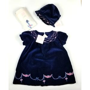 NWT Janie and Jack Navy Velour  3pcs Size 3 to 6m